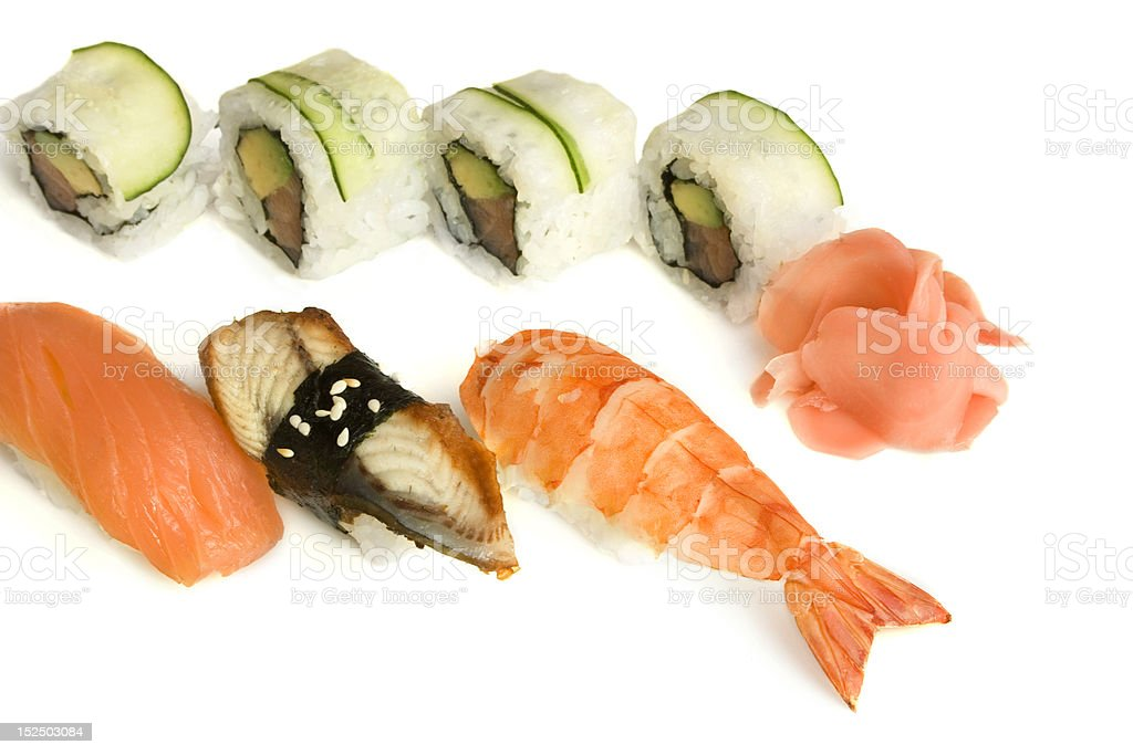 assortment of sushi royalty-free stock photo