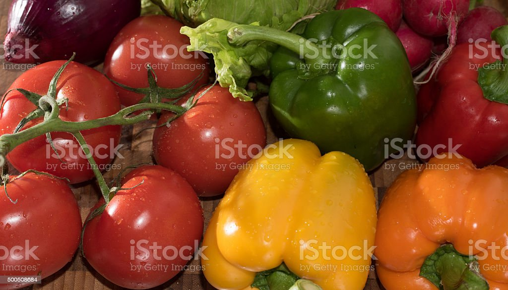 Assortment of Vegetables Background stock photo