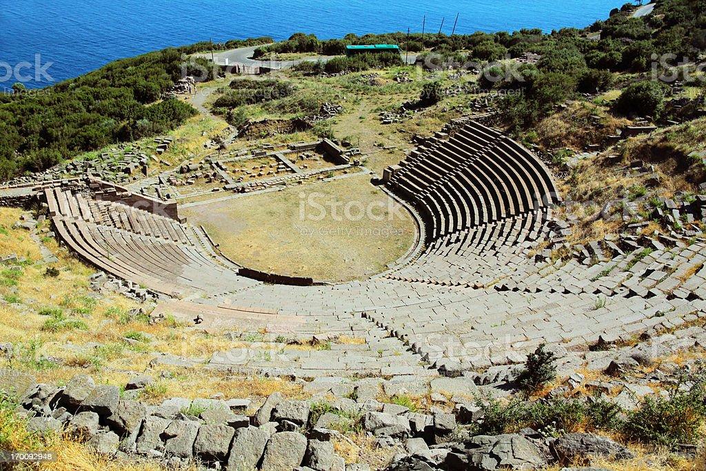 Assos Amphitheater stock photo