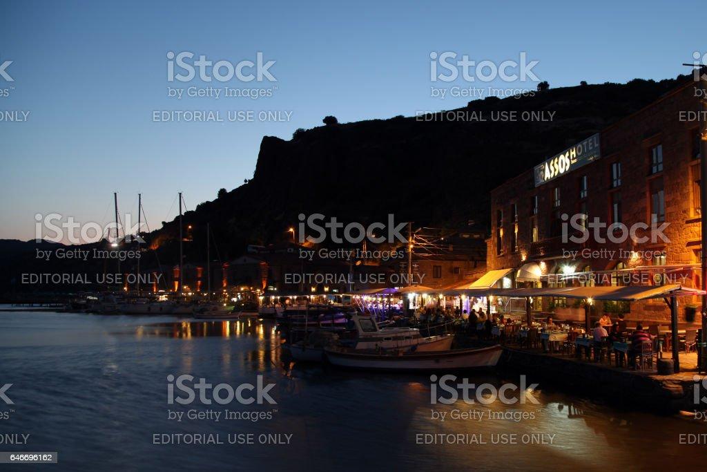Assos Ancient Harbor stock photo