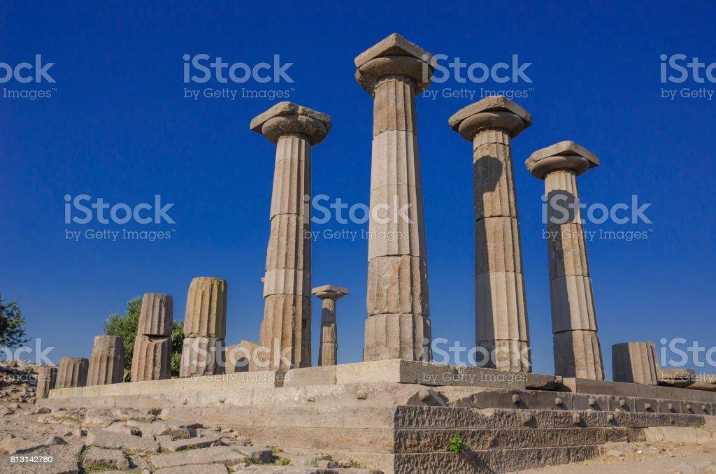 Assos Antique city stock photo