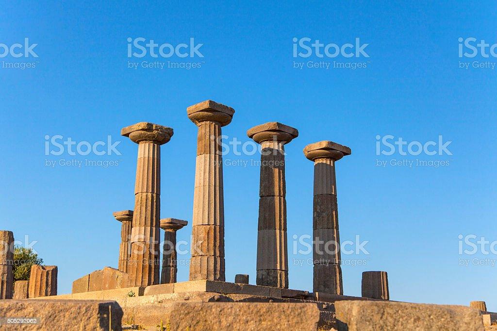 Assos Athena Temple stock photo