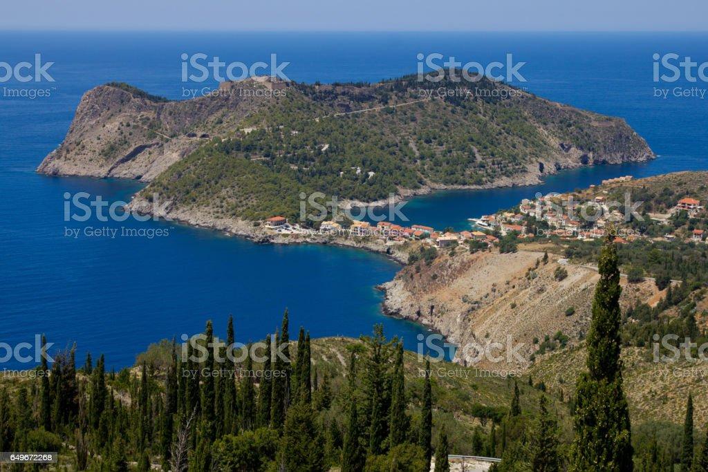 Assos in Kefalonia, Greece stock photo