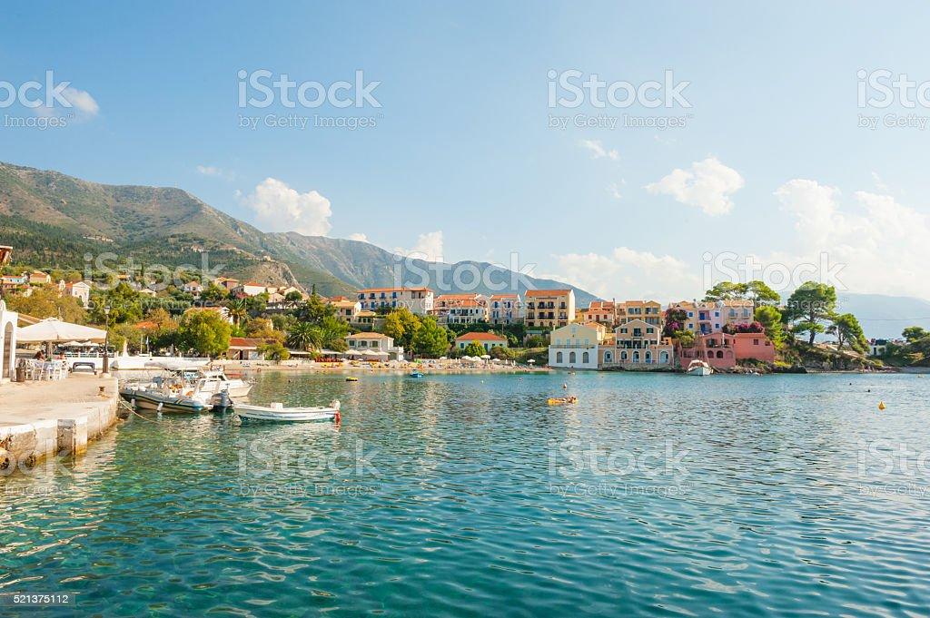 Assos town bay stock photo