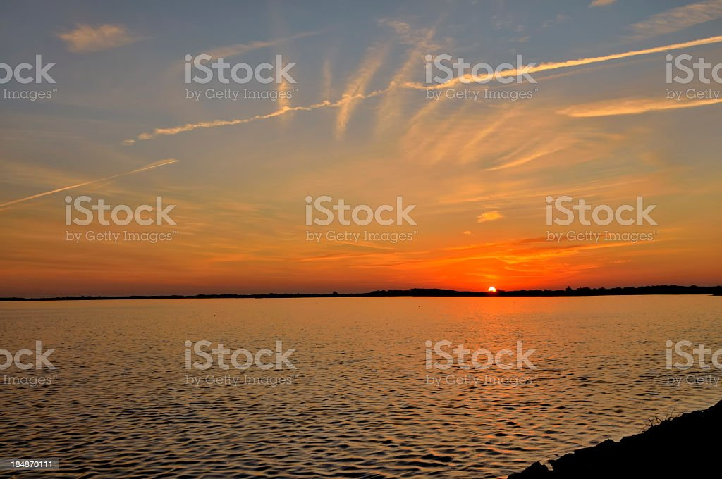Asssateague Bay Dawn royalty-free stock photo