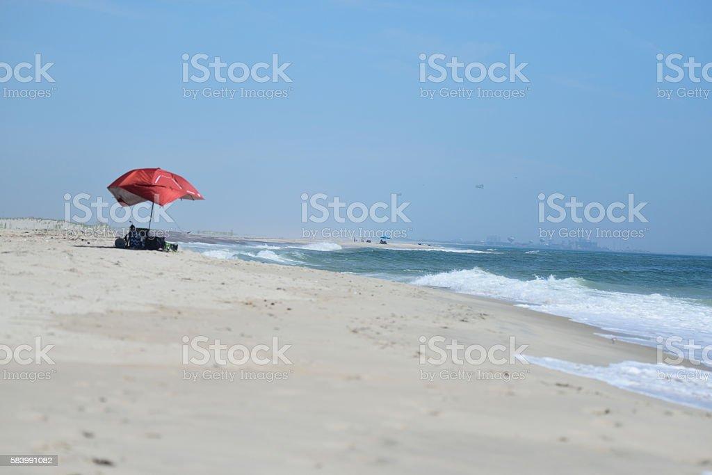Asssateague Island Beach Scene stock photo
