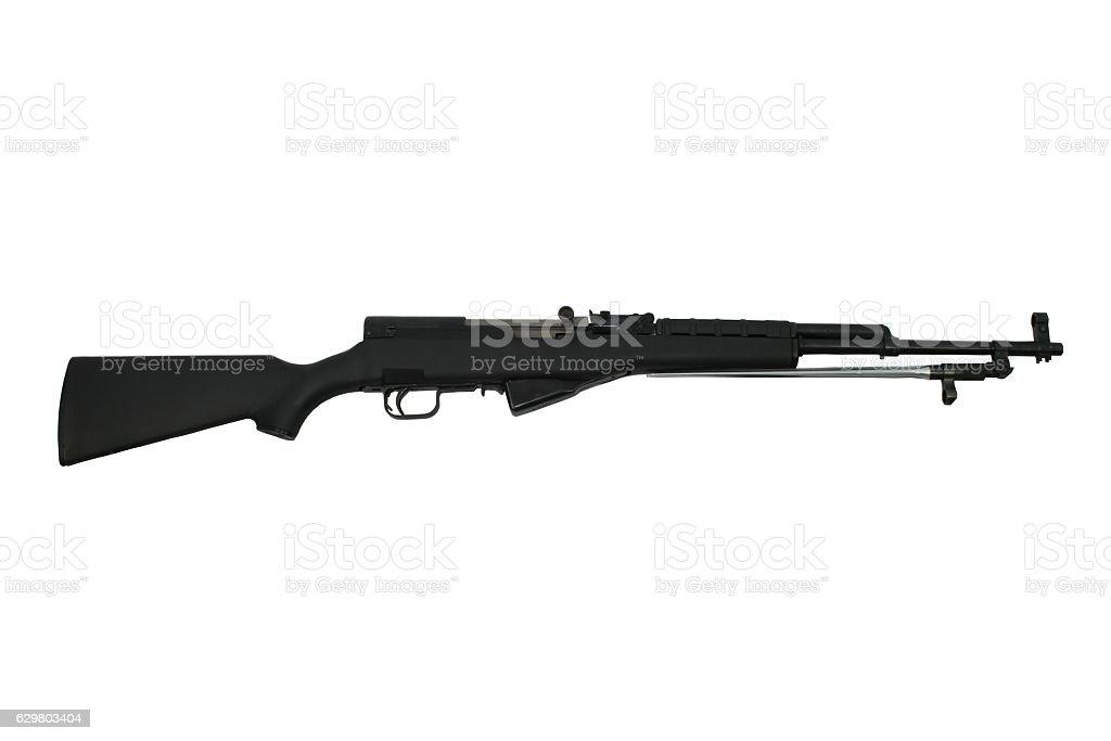 Assualt rifle Isolated On White stock photo
