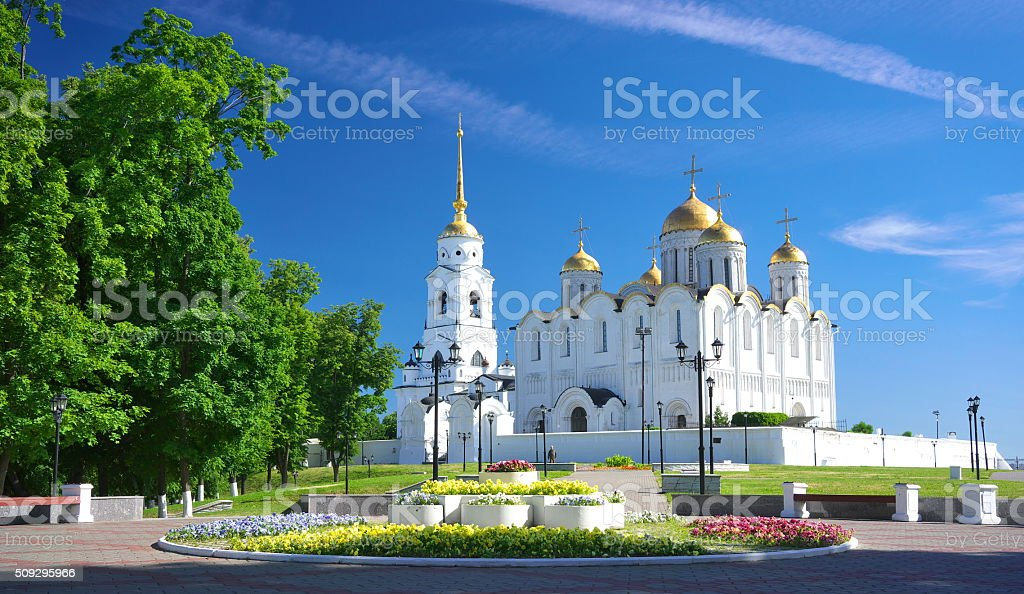 Assumption cathedral at Vladimir in summer, Russia stock photo