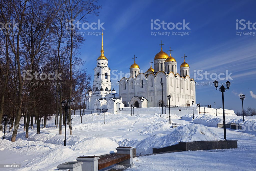Assumption cathedral  at Vladimir in winter royalty-free stock photo