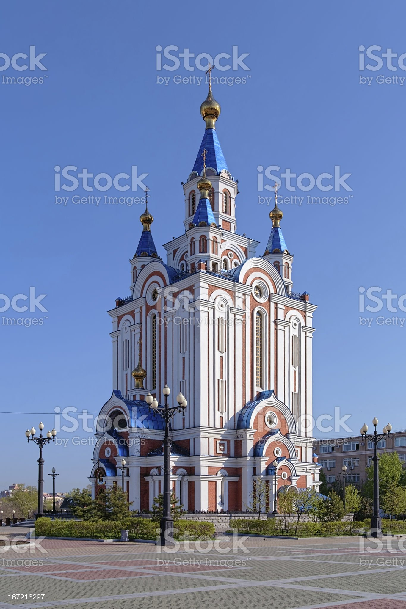 Assumption Cathedral in Khabarovsk, Russia royalty-free stock photo