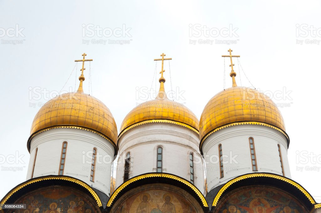 Assumption Cathedral in the Moscow Kremlin, Russia stock photo