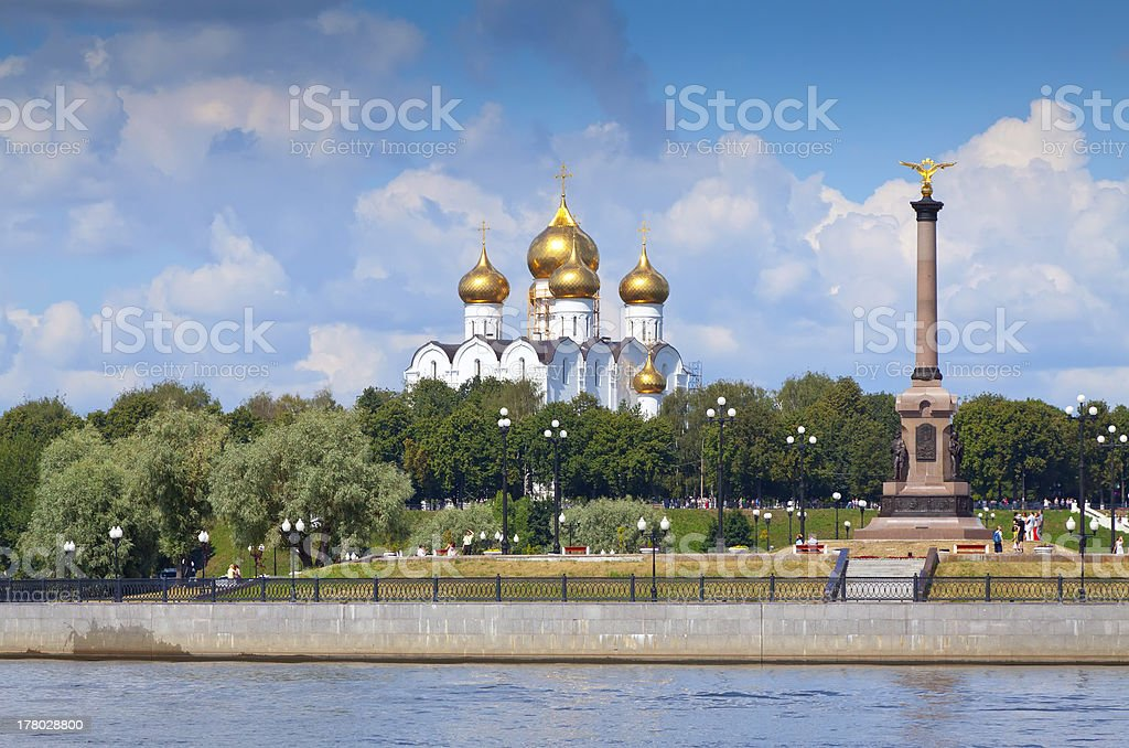 Assumption Cathedral in Yaroslavl stock photo