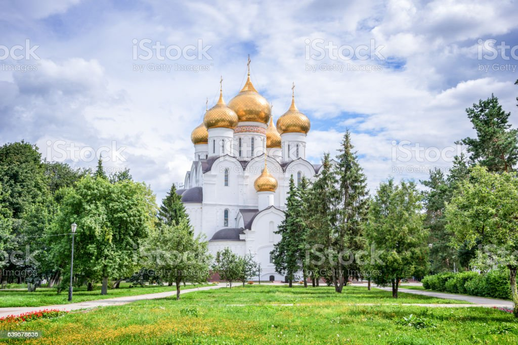 Assumption Cathedral, Yaroslavl, Golden ring, Russia stock photo