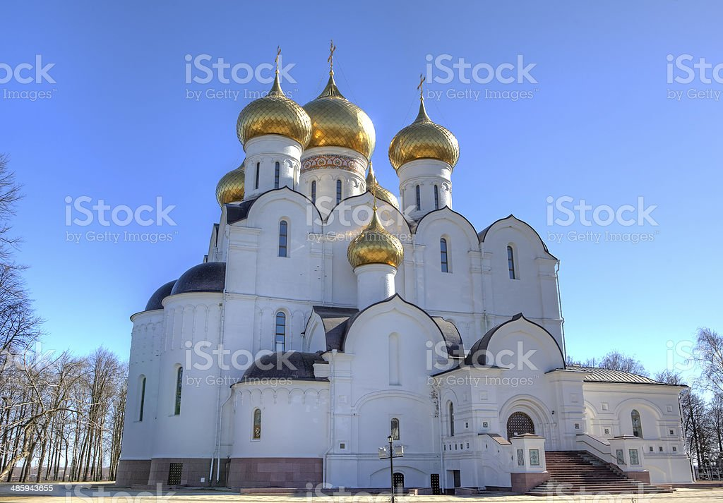 Assumption Cathedral. Yaroslavl, Russia stock photo