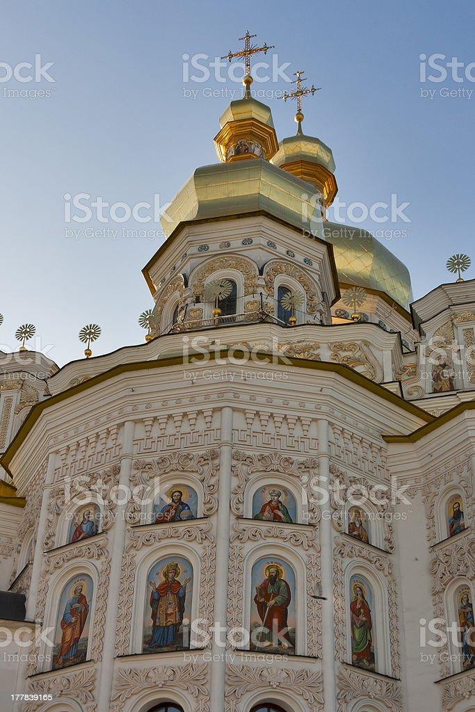 Assumption (Uspensky) temple in Pecherska Lavra, Kiev royalty-free stock photo