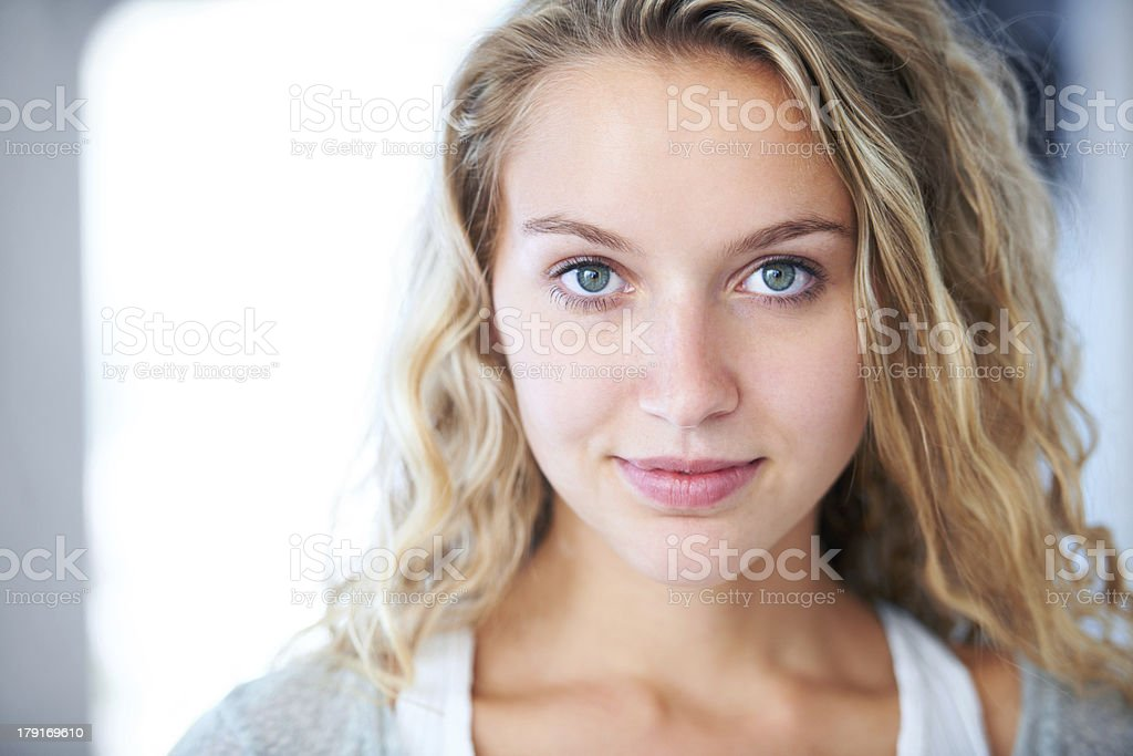 Assured and confident - Young beauty stock photo
