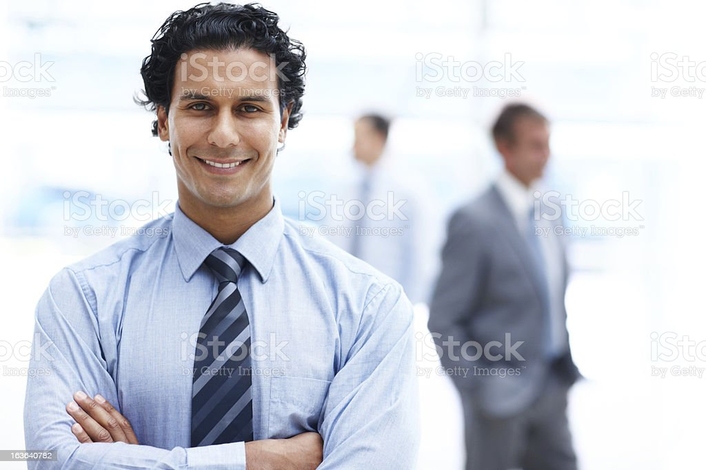 Assured of his business prowess royalty-free stock photo