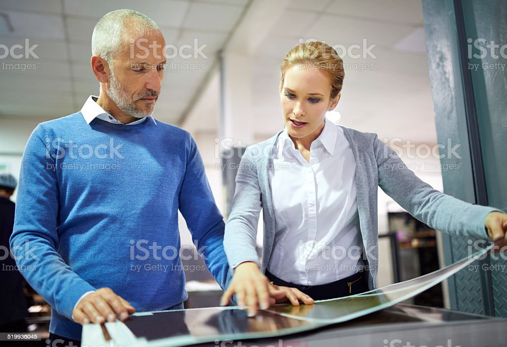 Assuring quality throughout the process stock photo