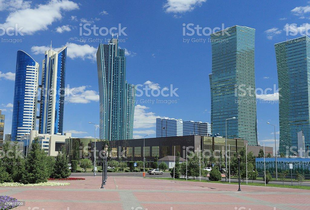 Astana, Kazakhstan. Business part of town. stock photo