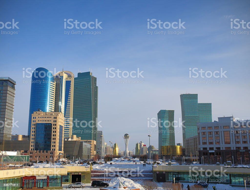 Astana. the central part. stock photo