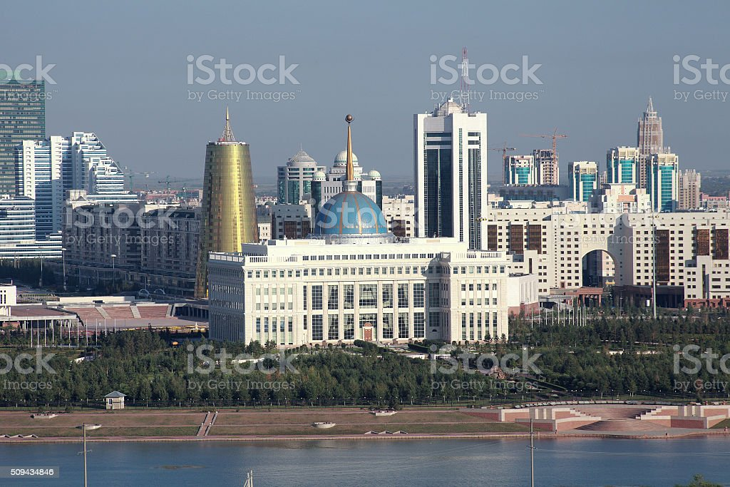 Astana. View of the Presidential Palace stock photo
