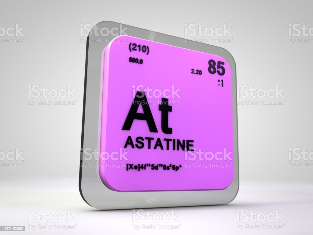 Astatine at chemical element periodic table 3d render stock photo laboratory number symbol italy atom astatine at chemical element periodic table gamestrikefo Image collections