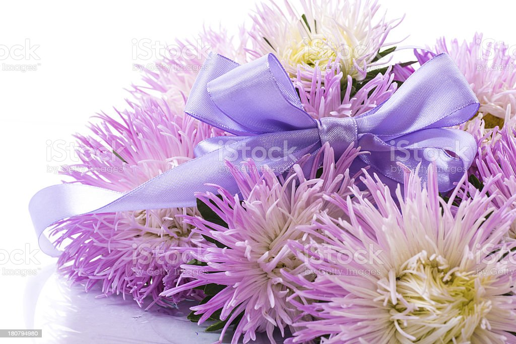 aster bouquet royalty-free stock photo