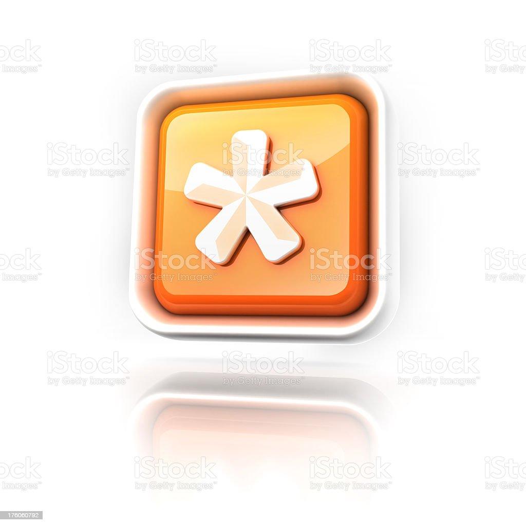 asterisk star icon royalty-free stock photo