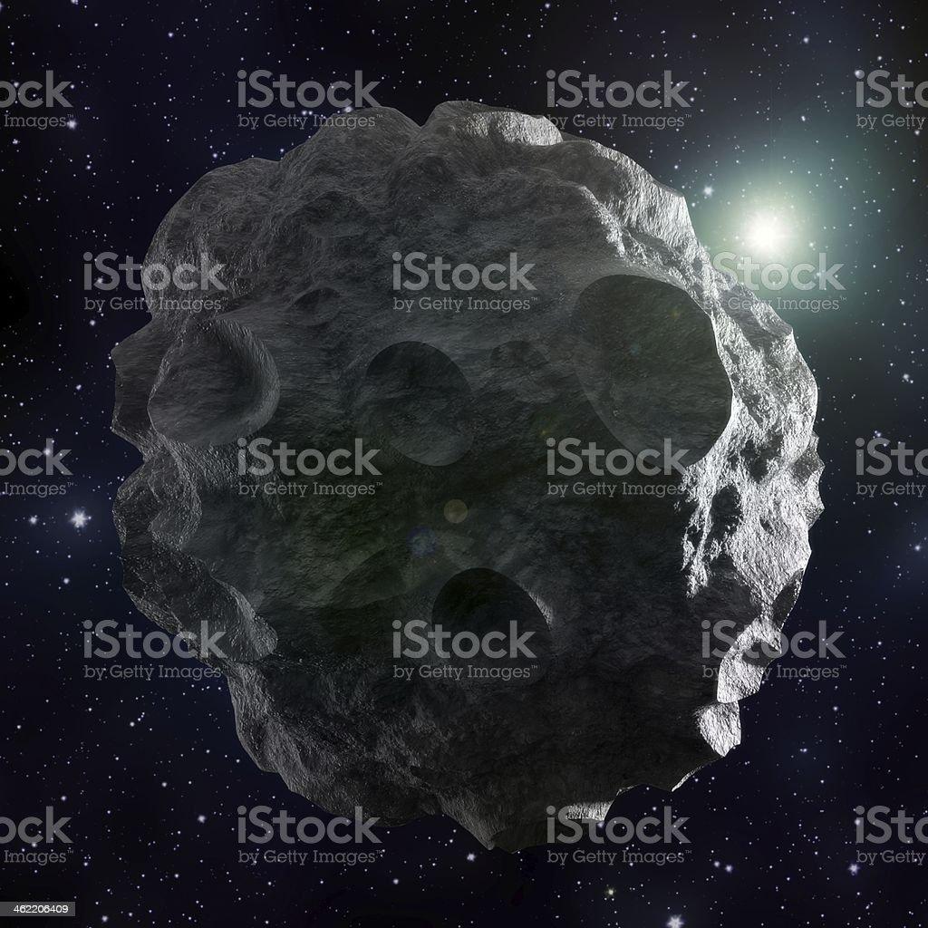 Asteroid stock photo