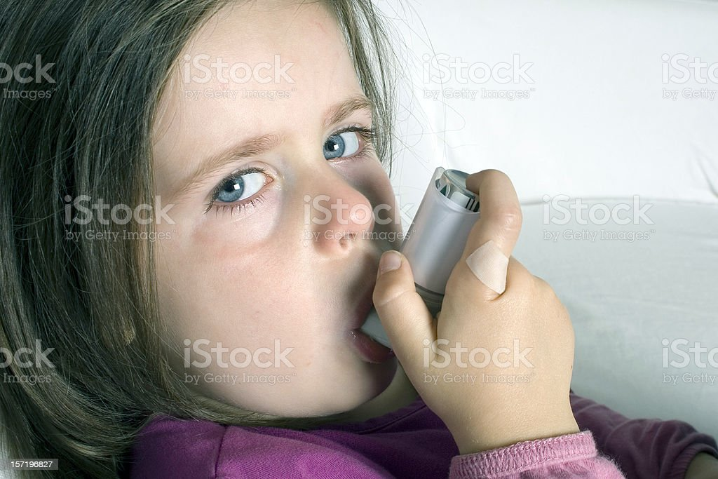 asthma attack stock photo