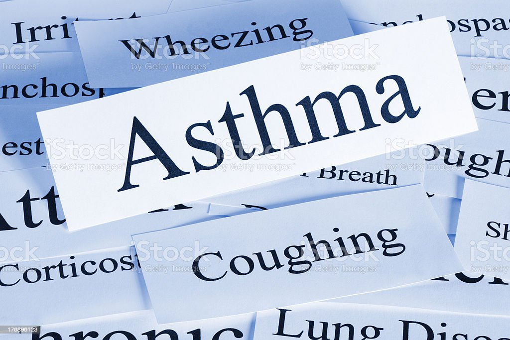 Asthma Concept stock photo