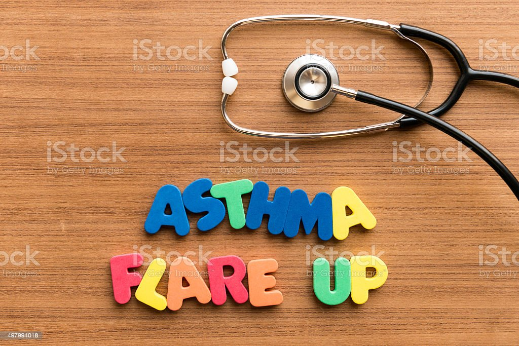 asthma flare up stock photo
