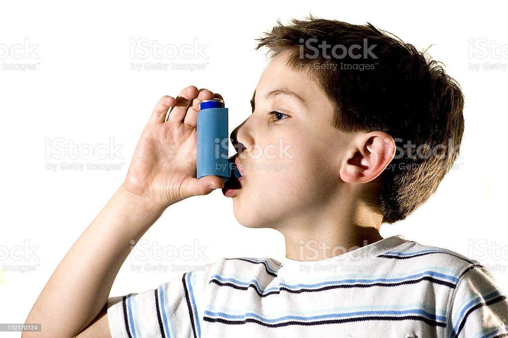 Asthma inhaler stock photo