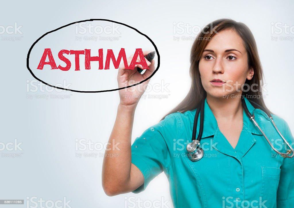 Asthma / Medicine concept (Click for more) stock photo