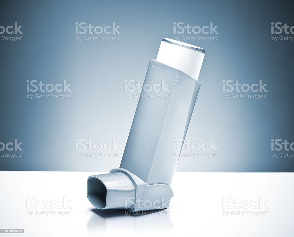Asthma pump stock photo