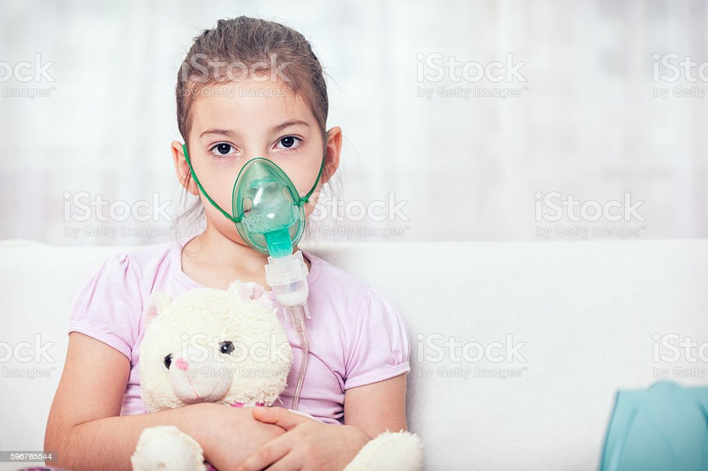 Asthma Treatment stock photo