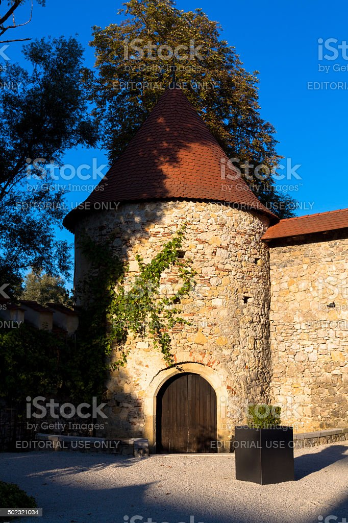 Сastle tower. stock photo
