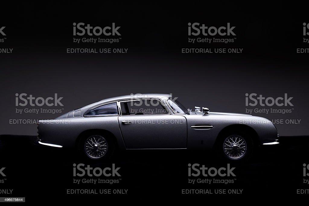Aston Martin B5 Model Low Key Side View stock photo