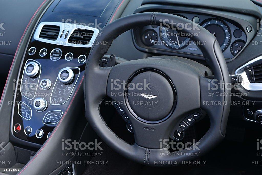 Aston Martin DB 12 Vanquish 2016, U.K. stock photo