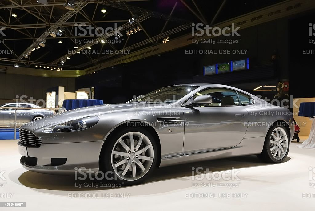 Aston Martin DB9 sports car front view stock photo
