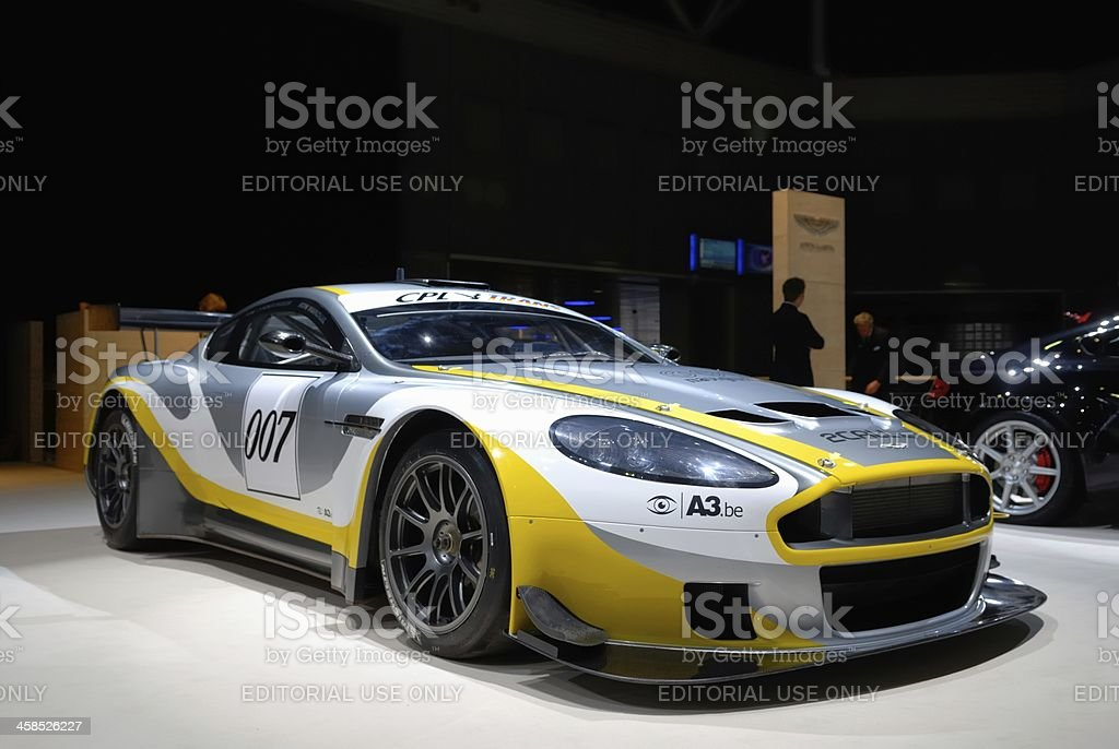 Aston Martin DBR9 race car at a motor show stock photo