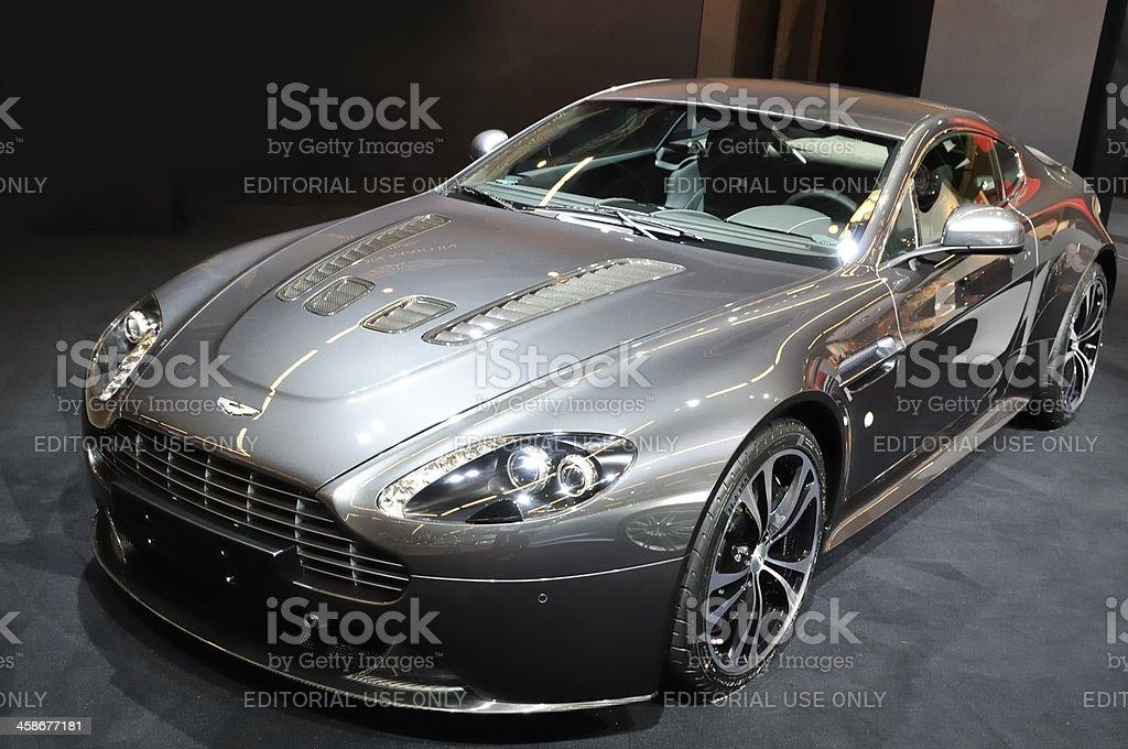 Aston Martin DBS sports car front view stock photo
