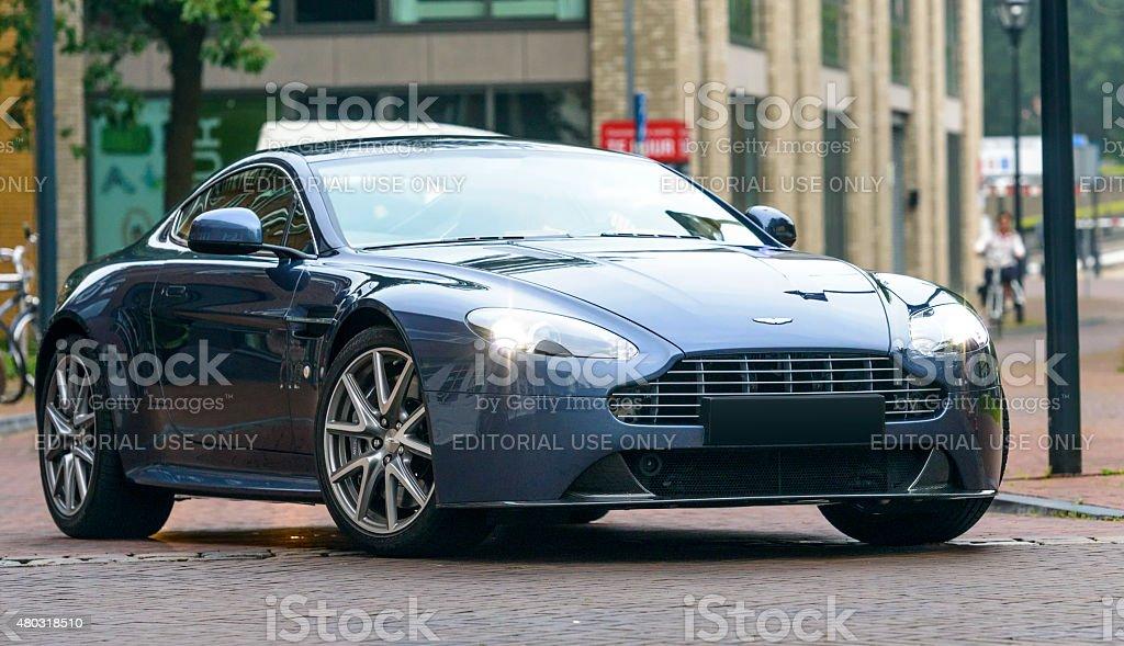 Aston Martin V8 Vantage S sports car stock photo