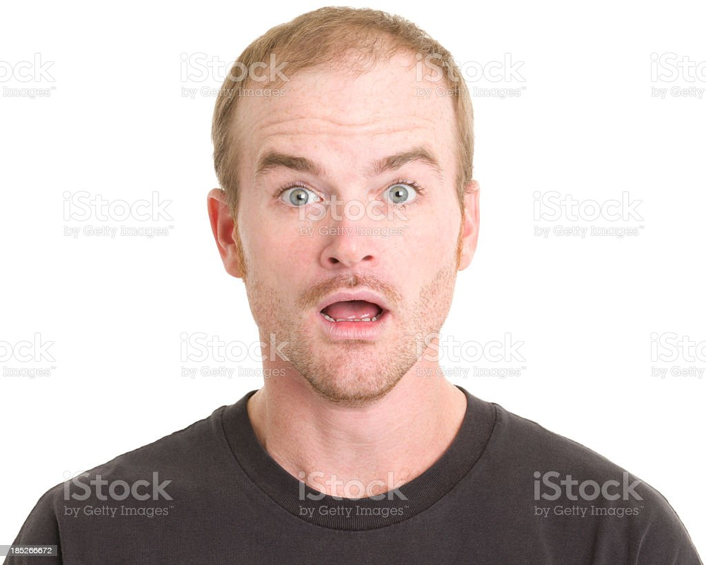 Astonished Man stock photo
