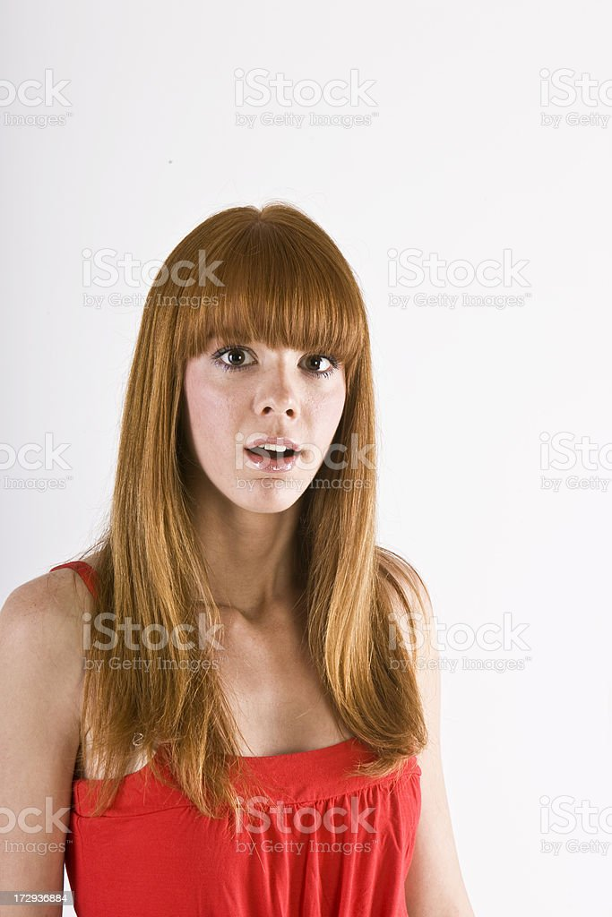 Astonished woman royalty-free stock photo