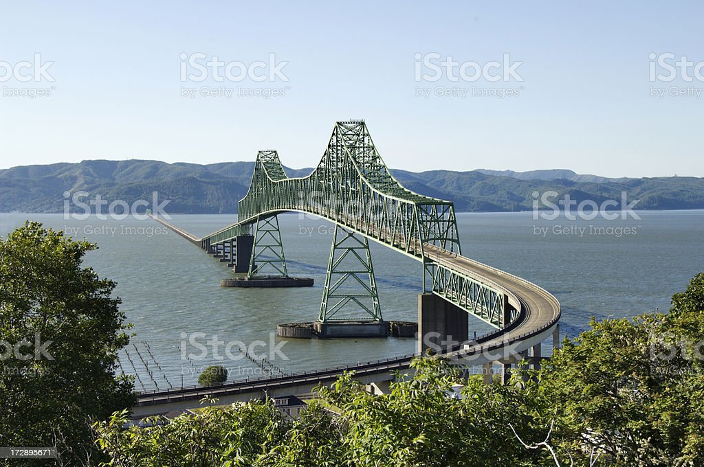Astoria Bridge with approach stock photo