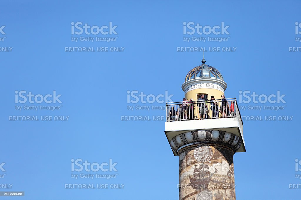 Astoria Column viewing platform stock photo