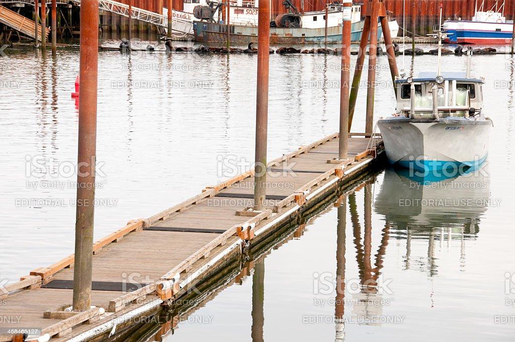 Astoria Fishing stock photo