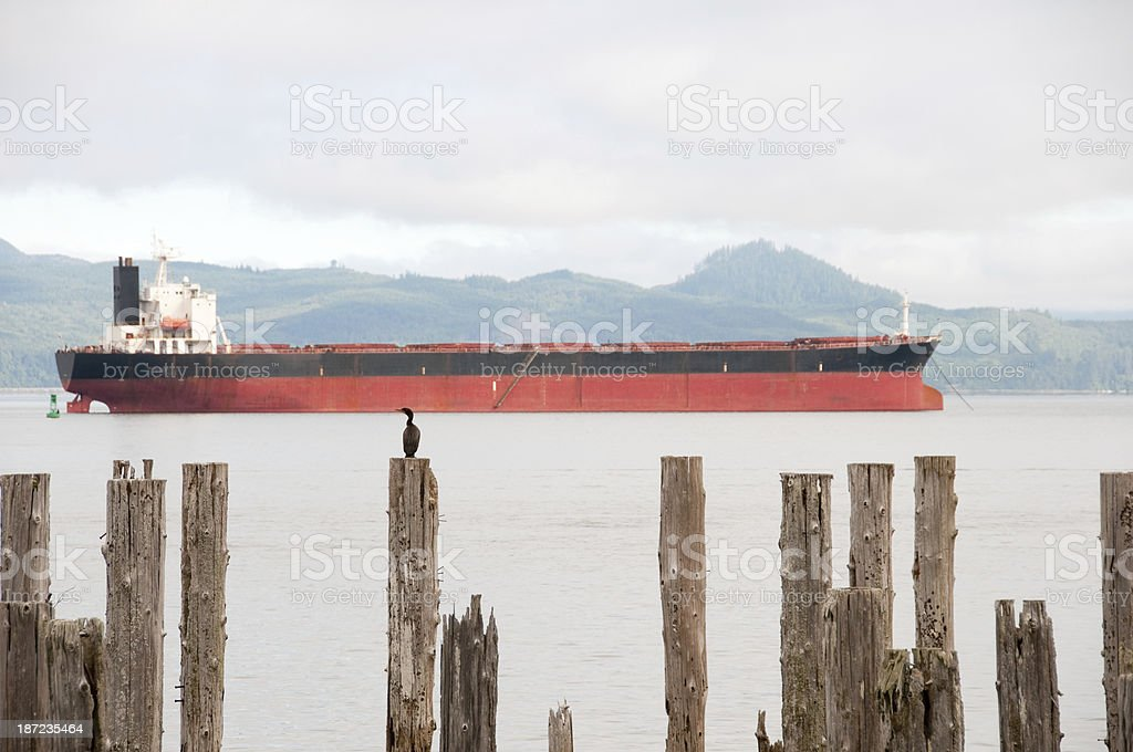 Astoria Harbor stock photo
