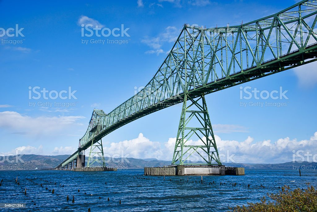 Astoria Megler Bridge, Oregon stock photo